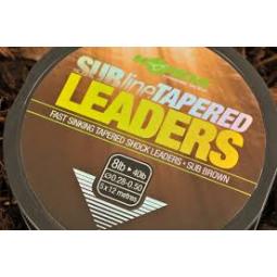 Korda SUBline TAPERED LEADERS 5x12m
