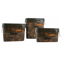 Fox Camo Square Carp Bucket 5 Litri