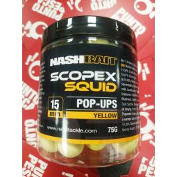 Pop-Ups Scopex Squid 15mm yellow 75gr Nash Bait